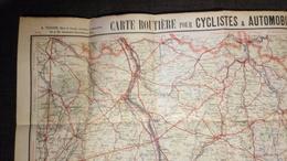 Carte Routière Pour Cyclistes & Automobiles, Centre De La France, Section Est (Bourges, Moulins) 70x89cm - Geographische Kaarten