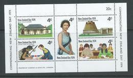 New Zealand 1974 QEII / NZ Day Miniature Sheet MNH - New Zealand