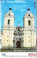PERU(Tamura) - Iglesia De San Francisco/Lima(0006), Entel/RED 50 Units, Tirage 10000, 04/94, Used - Peru