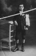 23 BUDELIERE / CARTE PHOTO / 1918 / COMMUNIANT / BOURRY PHOTOGRAPHE A MONTLUÇON - Autres Communes