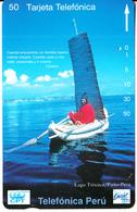 PERU(Tamura) - Lago Titicaca/Puno(0017), CPT/Telefonica/Entel Telecard 50 Units, Tirage 10000, 12/94, Used - Peru