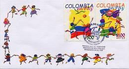 Lote 2091-2F, Colombia, 1997, SPD - FDC, Colombia En Paz, Peace, Children - Colombie