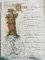 Menu Du 10 Décembre 1883 - Menus
