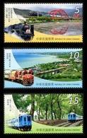 2015 Railway Tourism Stamps Train Bridge Ocean Holiday Farm - History