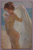 Gino PICCIONI (1873-1941) - Nudo Di Ragazza - Jeune Fille Nue - Naked Young Lady - Epoca Art Nv - Peintures & Tableaux