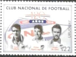 Uruguay 2019 ** 120 Años Club Nacional De Football. Ubiña. Espárrago. De León. - Equipos Famosos