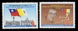 2002 Vatican Holy See Diplomatic Stamps National Flag Dove Bird - History