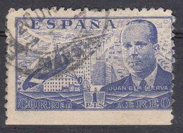 ESPAÑA - SPAGNA - SPAIN - ESPAGNE- 1940 - Posta Aerea Yvert 221, Usato,esemplare Non Dentellato Sul Lato Inferiore. - Usati