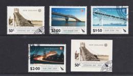New Zealand 2009 Auckland Harbour Bridge Set Of 4 + 1 Used - New Zealand