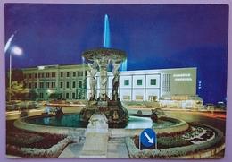 CATTOLICA - Piazza I Maggio (notturno) - Albergo Kursaal - Fontana, Insegna Birra Dreher - Vg - Rimini