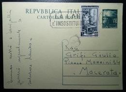 1951 - Cartolina Postale - Targhetta La Lana è Insostituibile - 6. 1946-.. Repubblica
