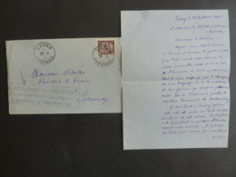 CAMBODGE Lettre Magistrat à SUONG  Au Résident De France à Siemreap Timbre + Flamme Foire De Phnom Penh  Vieux Papiers - Indochine (1889-1945)