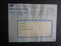 "LETTRE RADIOMARITIME, CENTRE , Cachet à Date 1972 FLAMME SAINT-LYS RADIO  PREAMBULE  TIGRE  ""PAQUEBOT"" - Postmark Collection (Covers)"