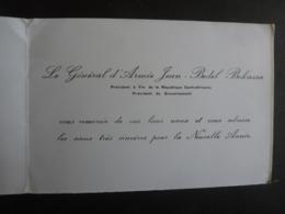 REPUBLIQUE CENTRAFRICAINE   Le Général D'Armée Jean-Bedel- Bokassa  Président à Vie  Du Gouvernement - Visitenkarten