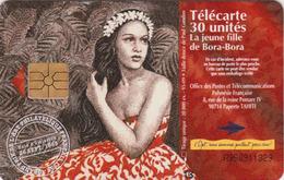 Télécarte POLYNESIE PF - Femme VAHINE De Bora Bora Sur TIMBRE TBE - GIRL On STAMP FRENCH POLYNESIA - French Polynesia