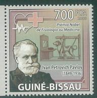 Guinea-Bissau 2009 Ivan Petrovich Pavlov Dog Chien MNH 1V - Guinea-Bissau