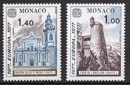 MONACO 1977 - SERIE N° 1101 ET 1102 - 2 TP NEUFS** - Monaco
