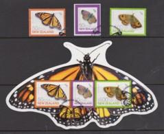 New Zealand 2010 Children's Health - Butterflies Set Of 3 + Minisheet Used - New Zealand
