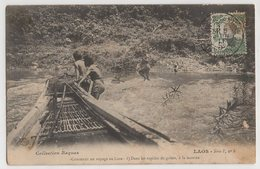 8862 Laos Fast River Crossing Serie F  Stamping Indo-Chine - Laos