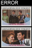 ST.VINCENT GRENADINES 1986 Ferguson Wedding $2 SET:2 ERROR:no Value - St.Vincent & Grenadines