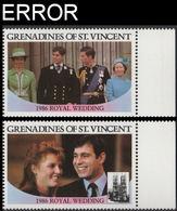 ST.VINCENT GRENADINES 1986 Ferguson Wedding $2 MARG.SET:2 ERROR:no Value - St.Vincent & Grenadines