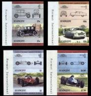 ST.VINCENT 1985 Vintage Cars Automobiles Issue:IV MARG.IMPERF Se-te.PAIRS:4 (8 Stamps) - St.Vincent (1979-...)