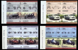 ST.VINCENT 1985 Vintage Cars Automobiles Issue:IV MARG.IMPERF. Se-te.4-BLOCKS:4 (16 Stamps) - St.Vincent (1979-...)