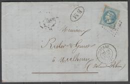 Vosges:  G.C.3217 Sur N°29B + CàD ROTHAU(82) + BM (origine LA PETITE RAON) Sur LAC De 1870 - Marcophilie (Lettres)