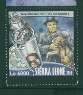 Sierra Leone 2016  Space Laika Dog Chien MNH 1V - Sierra Leone (1961-...)