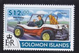 Solomon 2015 Elvis Presley Car Dog Chien MNH 1V - Solomon Islands (1978-...)