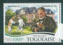 Togo 2015 Louis Pasteur And Dog Chien MNH 1V - Togo (1960-...)