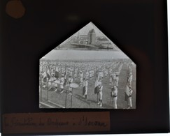 Très Rare Lot De 3 Plaques De Verre 8.5 X 10 Cm Concours Sportif à St Servan (35) Années 1900-1910 - Glass Slides