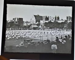 Très Rare Lot De 9 Plaques De Verre 8.5 X 10 Cm Concours Sportif à St Brieuc Provenant Surement D'un Lycée Breton 1907 - Glass Slides