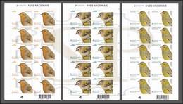 Aves Nacionais Portugal EUROPA 2019 Birds Oiseaux Vögel Pájaros Uccelli Regullus Erithacus Serinus Fauna Passeriformes - 2019