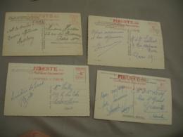 Lot De 4 Pibeste Montagne Enchante 1951 Ema Empreinte Machine Affranchir - Postmark Collection (Covers)