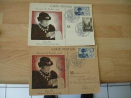 Lot De 2 Cm C M  Journee Timbre  1945 Louis 16 Epinal - 1940-49