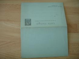 Entier Postal 2 Volet Congo Francais 10  Gris - Lettres & Documents
