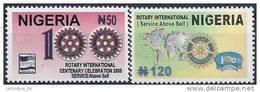 2005 NIGERIA 765-66** Rotary - Nigeria (1961-...)
