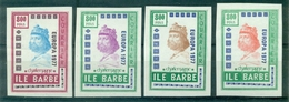 FRANCE 4 Vignettes EUROPA 1977 N Xx STE BARBE . CHARLEMAGNE Faciale 800 Poils Rare Tb. - Commemorative Labels
