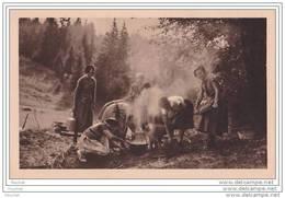 Camp D ' Eclaireuses En Alsace - La  Cuisine  - (Fédération Française Des éclaireuses à Paris - Scout - Scoutisme) - Scoutismo