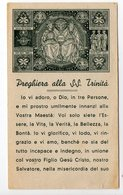 SANTINO Antico Seppiato  Image Pieuse Image Religieuse Holy Card Santissima Trinità - Religione & Esoterismo