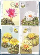 2006 Rép TCHEQUE 439-42** Flore, Cactus, Cartes-maximum - Tchéquie