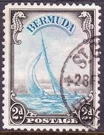 BERMUDA 1936KGV2d Black & Pale BlueSG101 FU - Bermuda