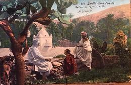 CPA Jardin Dans L'Oasis, Algérie, écrite De Médéa En 1914 - Medea
