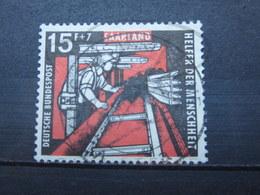 """VEND BEAU TIMBRE DE SARRE N° 388 , OBLITERATION """" VOLKLINGEN """" !!! - 1957-59 Federazione"""