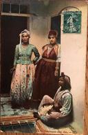Cpa, Scènes Et Types,Mauresques Chez Elles,Algérie, écrite De Medéa En 1908 - Algeria