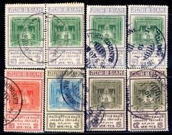 SIAM - 8 Timbres Obl (1926) Couronnement Du Roi Prajadhipok - Salle Du Trône - Siam