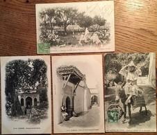 4 CPA, TLEMCEN, Algérie,Marabout, Porte De La Mosquée,Cimetière,Femme - Tlemcen