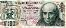 MEXIQUE  Billet 10 Pesos Mexique  Série 1EP - Mis En Circulation En Février 1977 - México