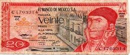 MEXIQUE Billet 20 Pesos Mexique  Série CC - Mis En Circulation Juillet 1976 - México